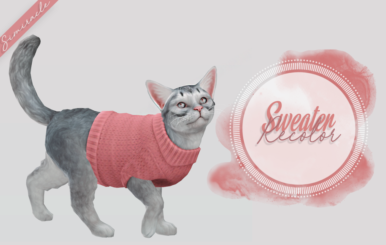 Sweater Recolor  Cats by Simiracle