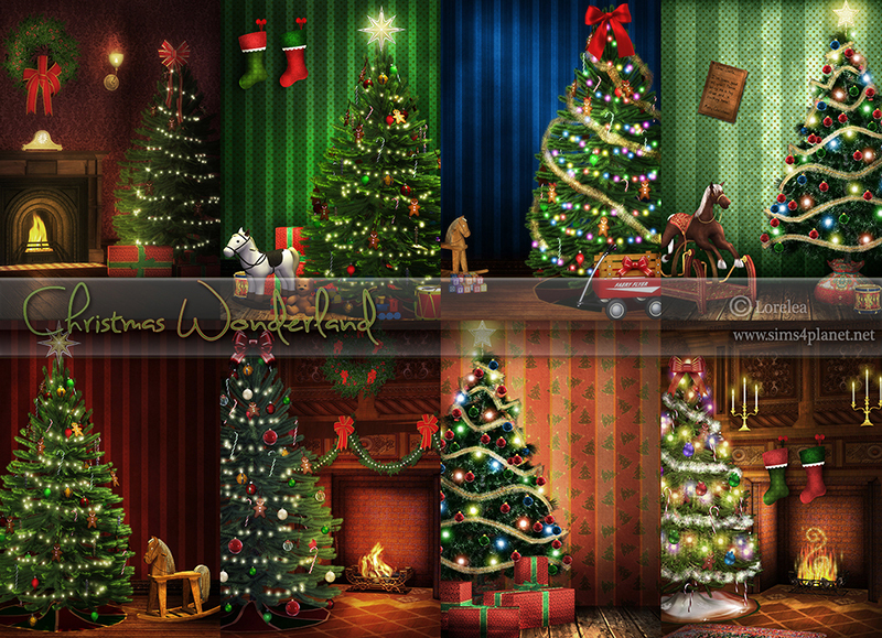 Christmas Wonderland Backgrounds by lorelea