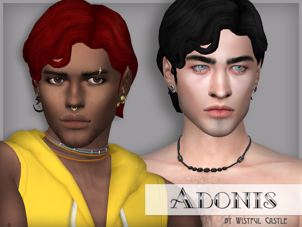 Adonis - male hair by WistfulCastle