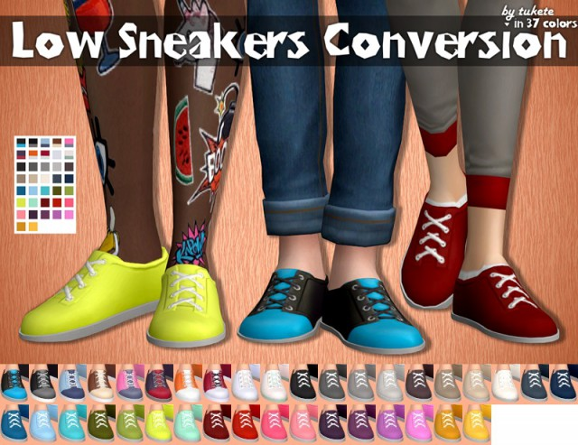 Low Sneakers Conversion by Tukete