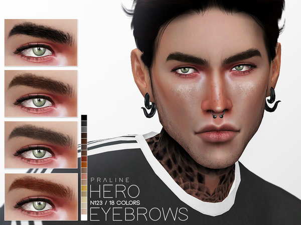Hero Eyebrows N123 by Pralinesims
