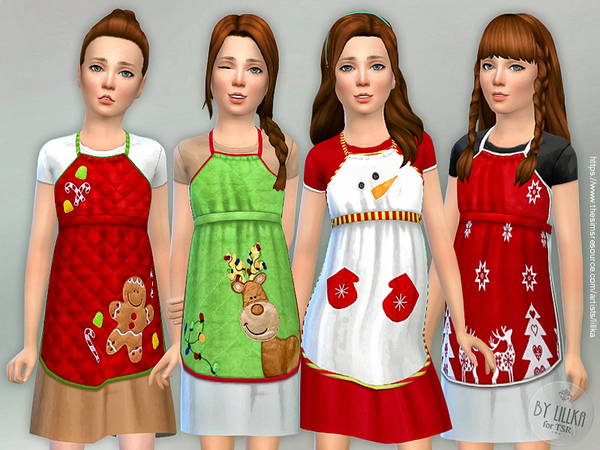 Christmas Apron for Girls by lillka