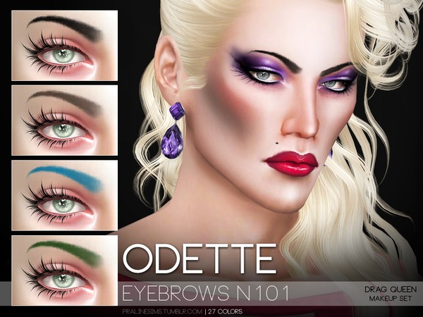 Odette Eyebrows N101 by Pralinesims