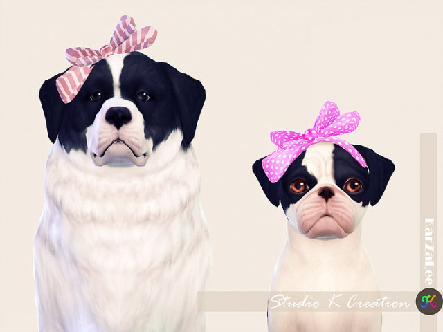 Head bow for dog by Studio K Creation