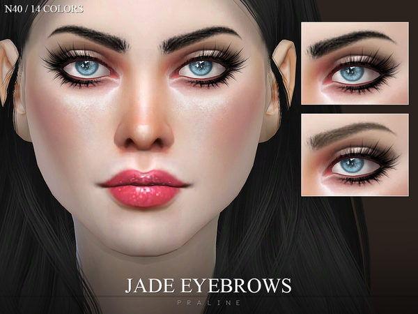 Jade Eyebrows N40 by Pralinesims