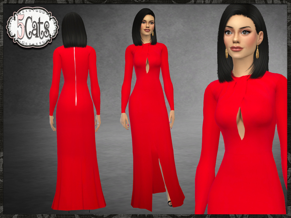 ZM Cady Front Slit Gown New Mesh by Five5Cats