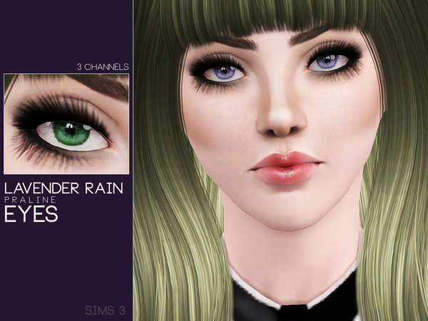 Lavender Rain Eyes by Pralinesims