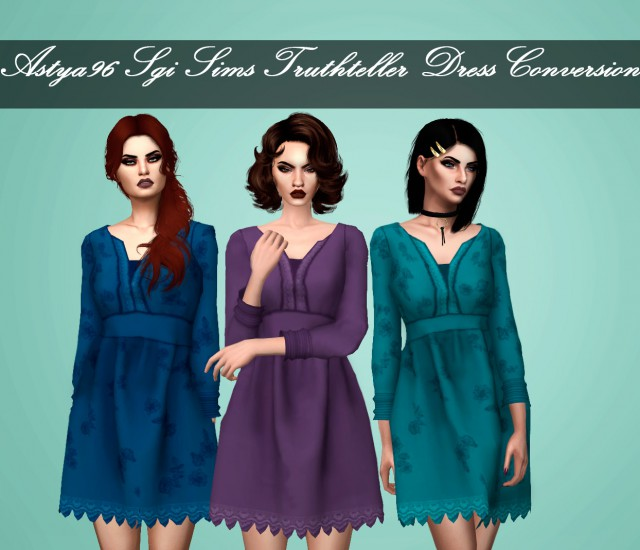 SgiSims Truthteller Dress Conversion by Astya96