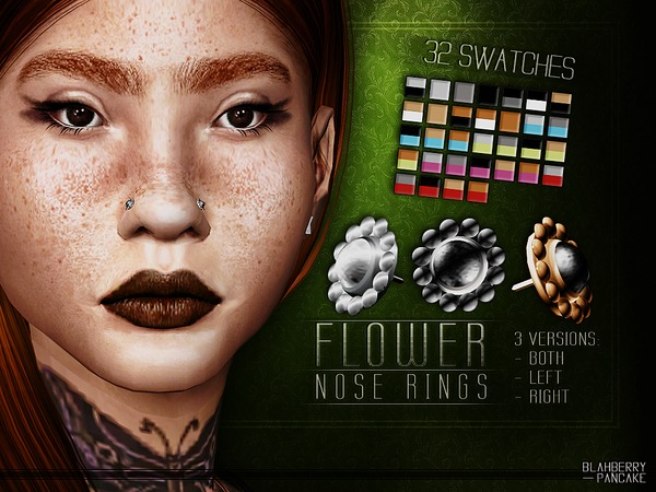 Flower Nose Rings by Blahberry Pancake