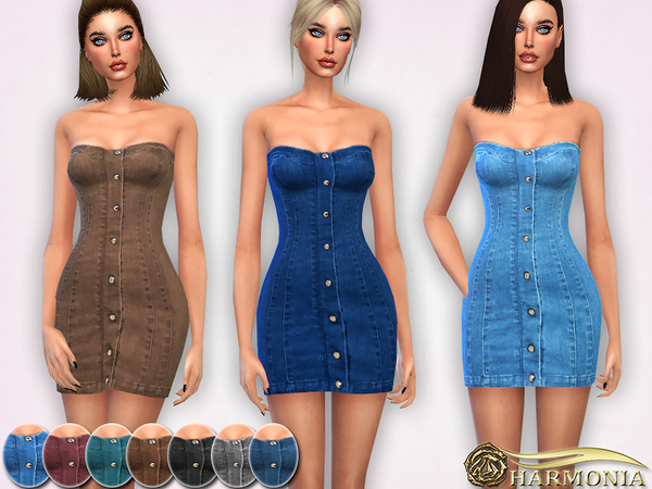 Soft Stretch Denim Dress by Harmonia