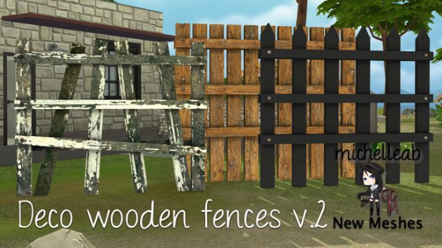Deco Wooden Fences v.2 by michelleab