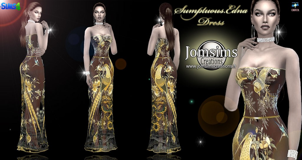 Sumptuous edna dress by JomSims