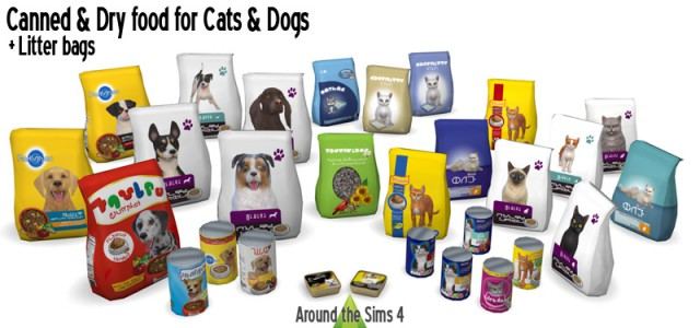Canned Food & Dry food bags for Cats & Dogs by Sandy