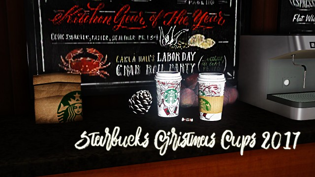 Starbucks Christmas Cups 2017 by Pottery-sims