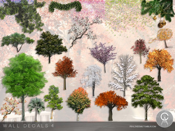 Wall Decals 4 by Pralinesims