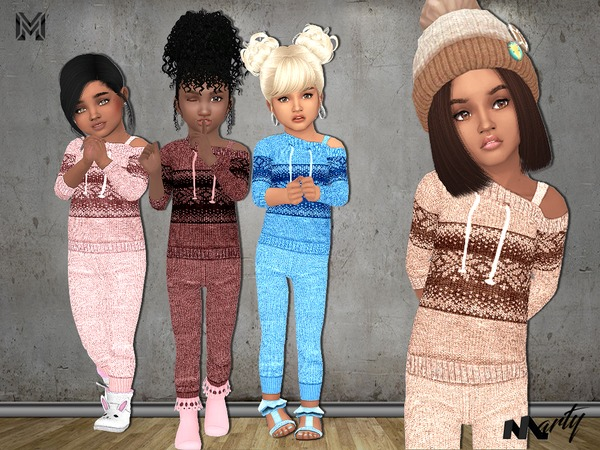 MP Toddler Off Shoulder Sweaters + Pants by MartyP