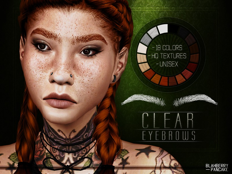 Clear Eyebrows by Blahberry Pancake