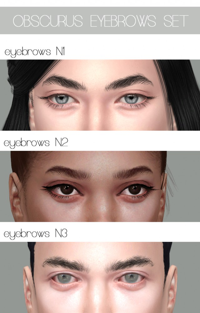 EYEBROWS N1, 2, 3 by Obscurus