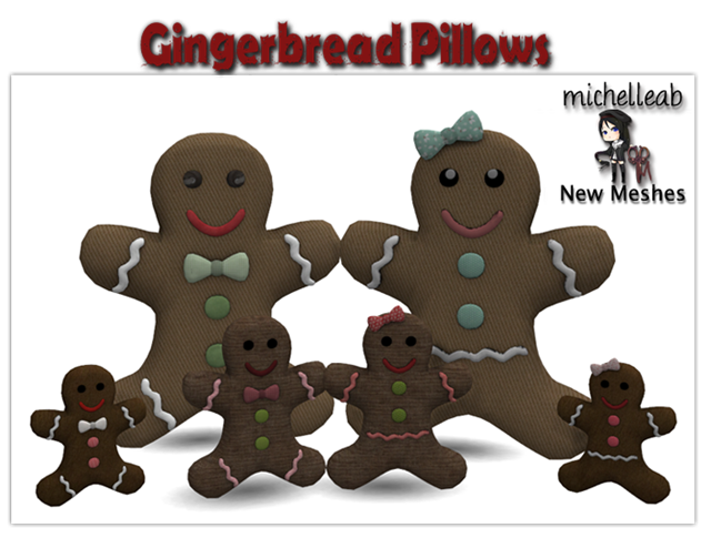 Gingerbread pillows by Michelleab
