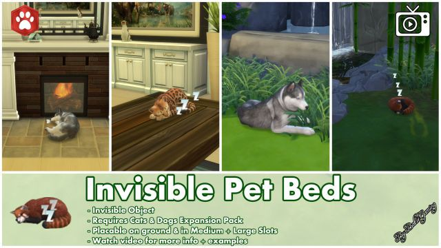 Invisible Pet Beds by Bakie