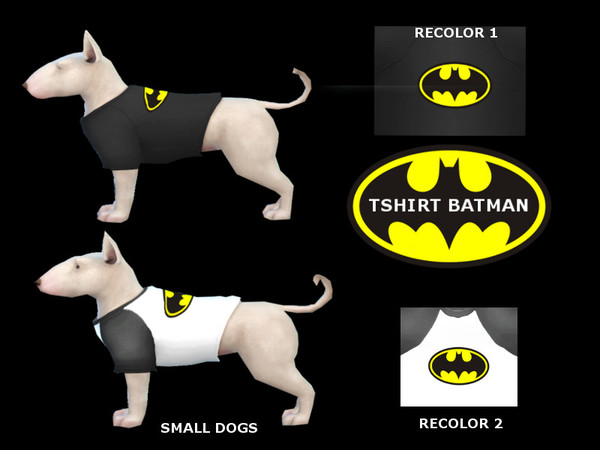 tshirt batman small dogs by maridesims4