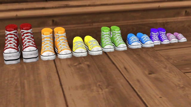 Pixicat Converses as Decor by lies-and-crooked-sims