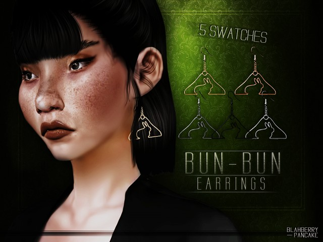 Bun-Bun Earrings by Blahberry Pancake