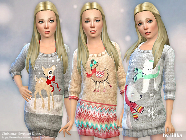 Christmas Sweater Dress 02 by lillka
