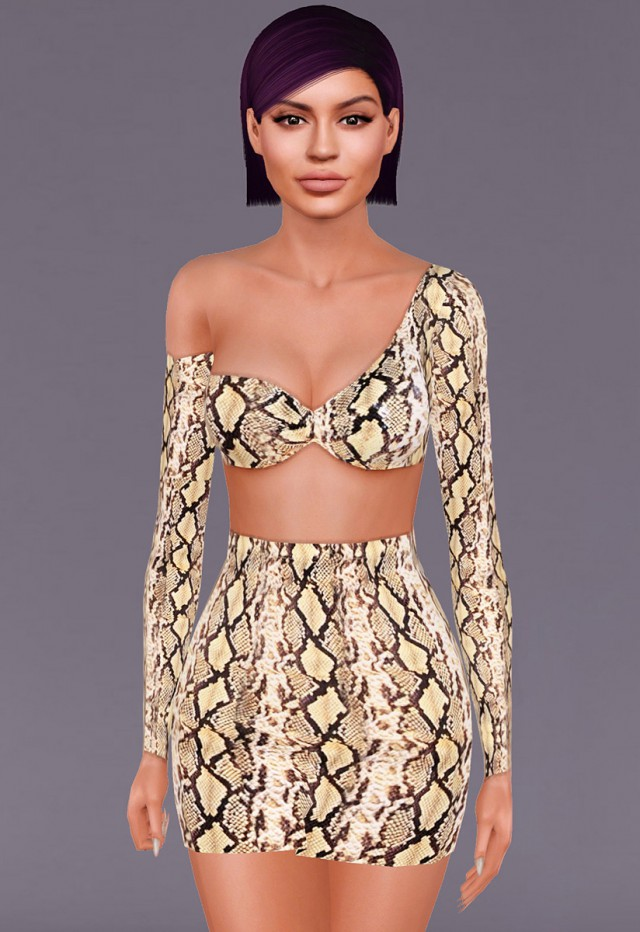 """Kylie Jenner  TLZ L'FEMME t6 top with t7 skirt"" by ALECSEYCOOL"