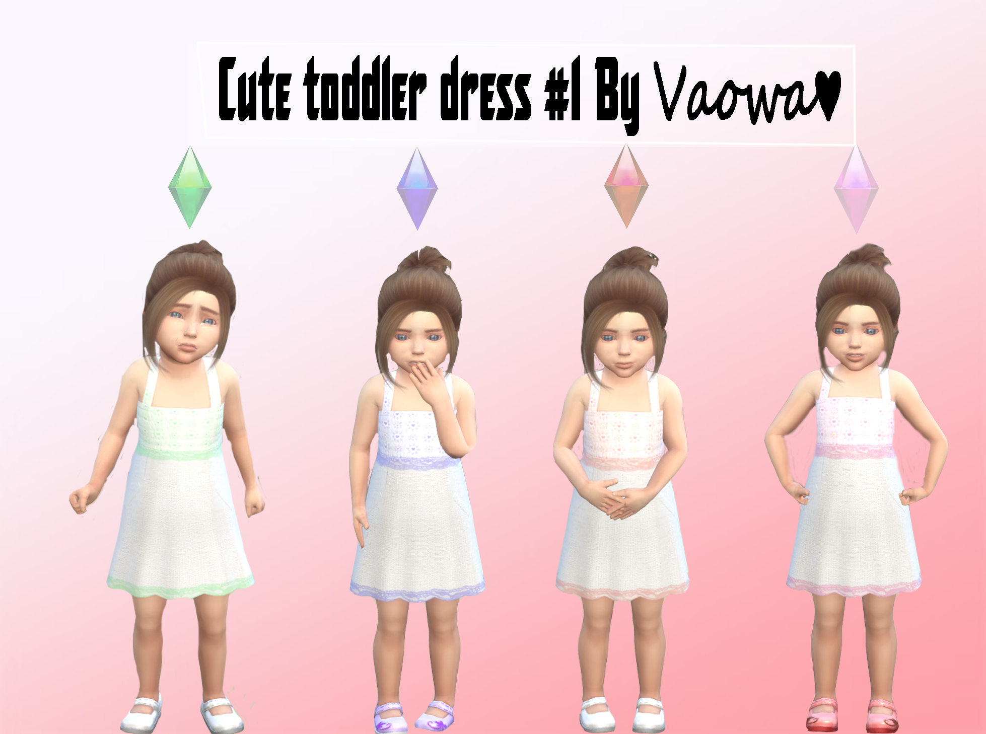 Toddler Clothing #2 (Cute Dress) by Vaowa