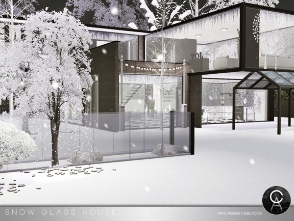 Snow Glass House by Pralinesims