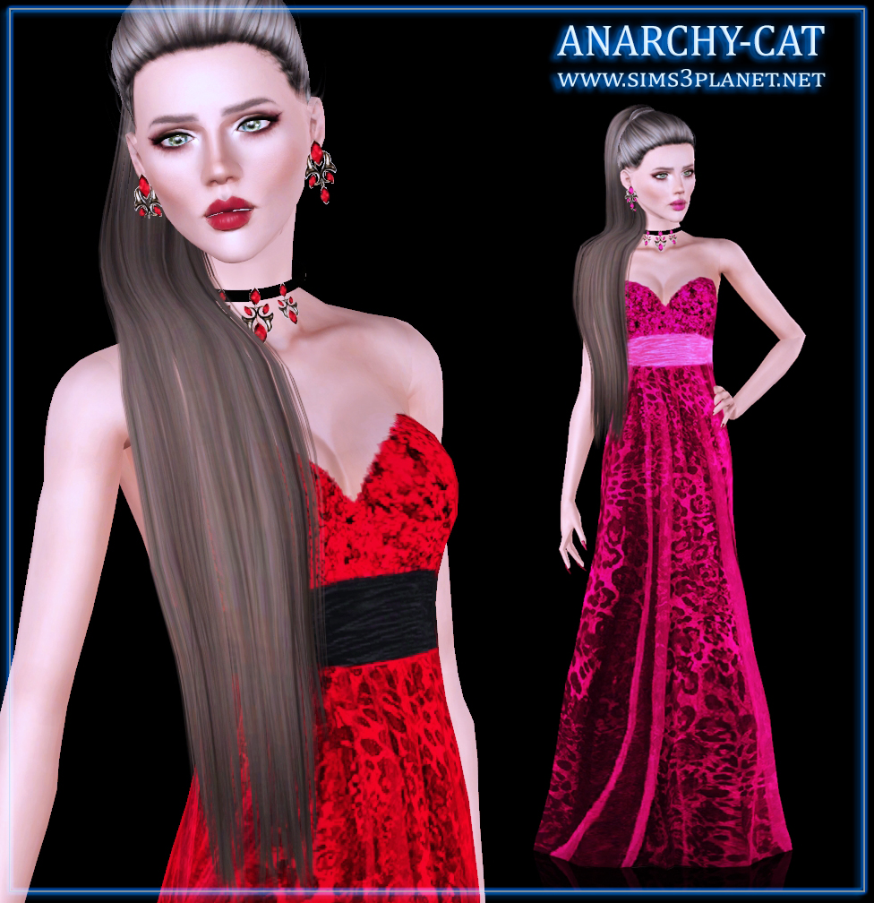 TS3 Dress #1 by Anarchy-Cat