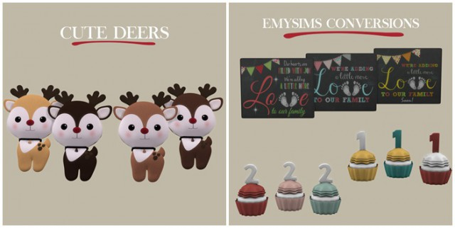 Emysims Conversions & Cute Deers by Leo-Sims