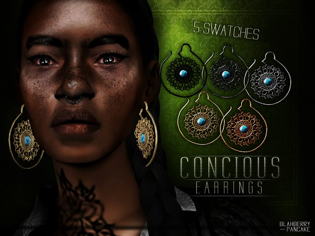 Concious Earrings by Blahberry Pancake