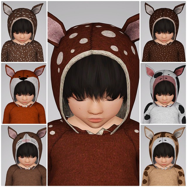 Hoodie Deer Up (toddler) by Sketchbookpixels