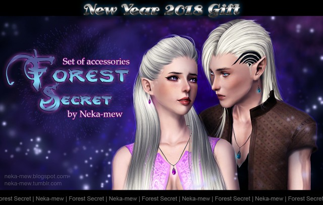 """New Year 2018 gift. Set of accessories """"Forest secret"""" by Neka-mew"""