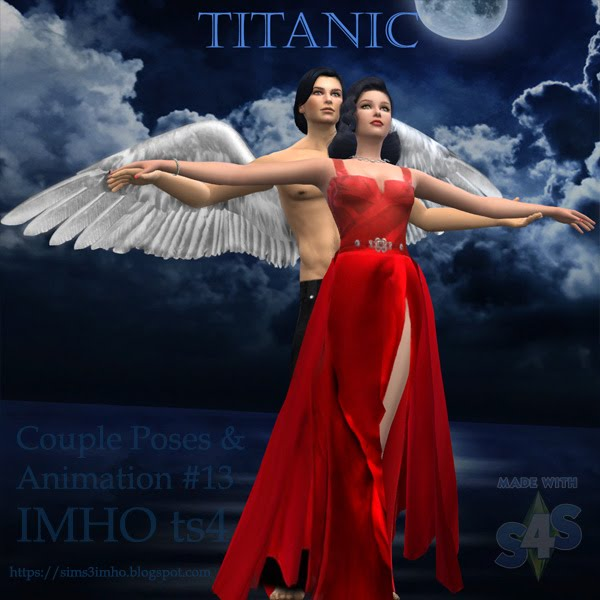 Couple Poses & Animation Titanic #13 TS4 by IMHO