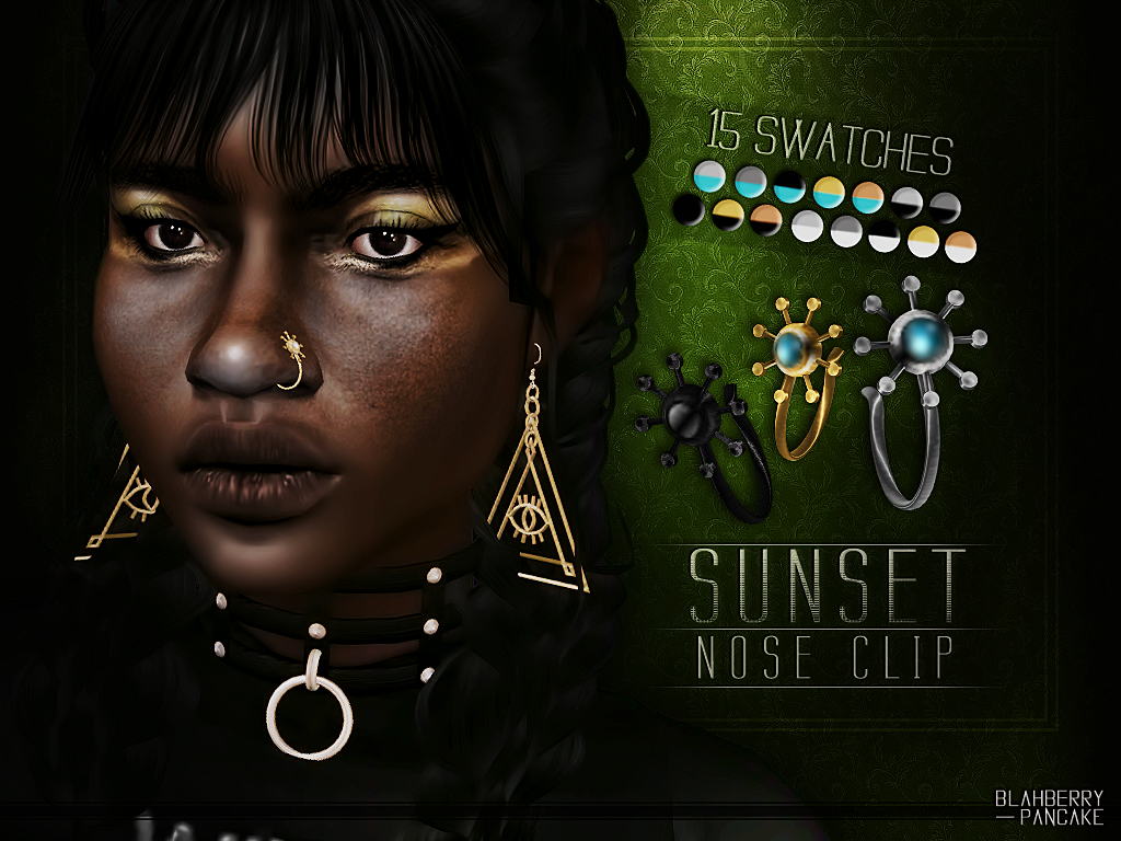 Sunset Nose Clip by Blahberry Pancake