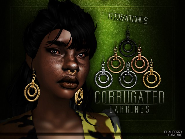 Corrugated Earrings by Blahberry Pancake