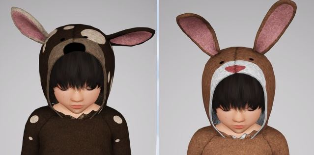 Hoodie Dog Up & Bunny Up (toddler) by Sketchbookpixels