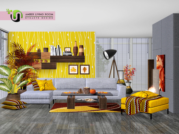 Amber Living Room by NynaeveDesign