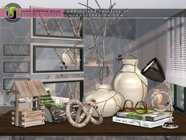 Amber Bedroom Decor by NynaeveDesign