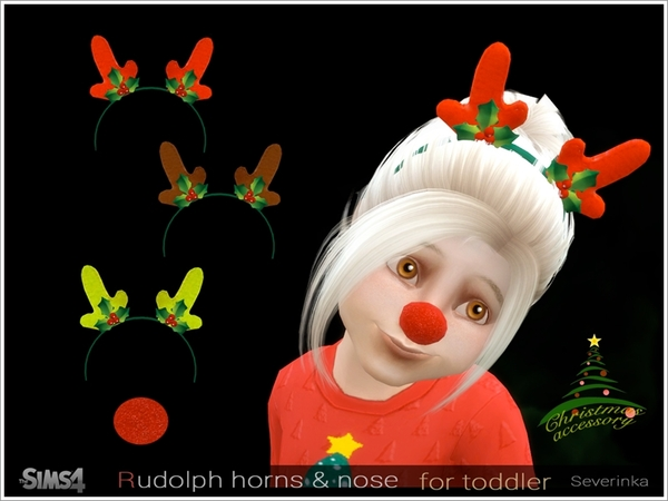 Rudolph horns and nose TM/TF by Severinka