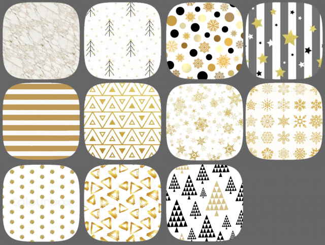 Golden Christmas patterns by kalethegrey