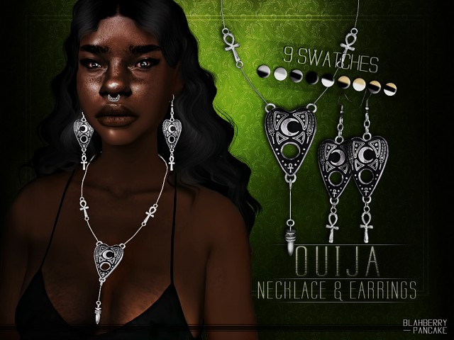 Ouija Necklace & Earrings by Blahberry Pancake