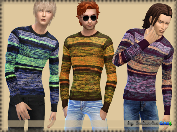 Sweater Melange Strips by bukovka