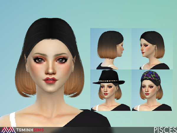 Pisces ( Hair 52 ) by TsminhSims