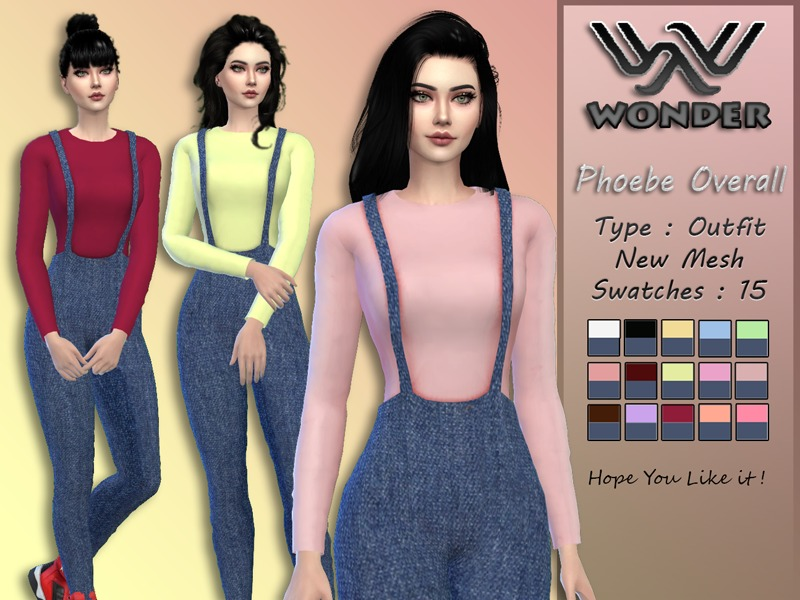 WS Phoebe Overall by Wonder Sims