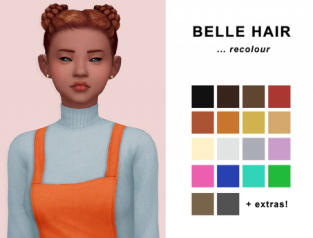Belle hair recolour by twikkii