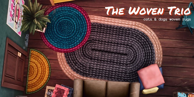 THE WOVEN TRIO RUGS by PictureAmoebae